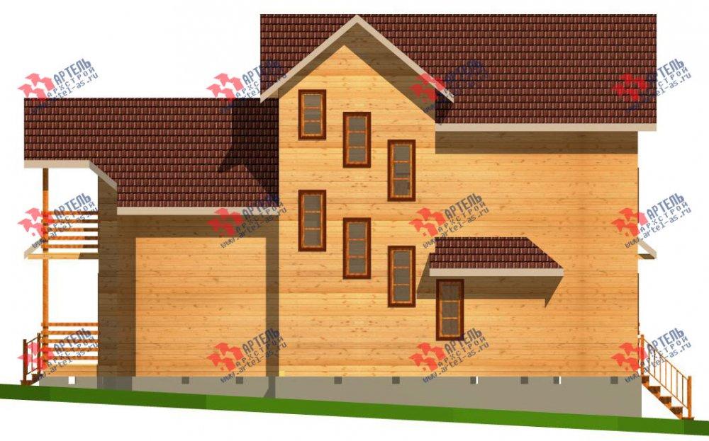трёхэтажный дом из бруса площадью свыше 200 кв. м. с  балконом, мансардой, проект Вариант 6.3 Н фотография 2297