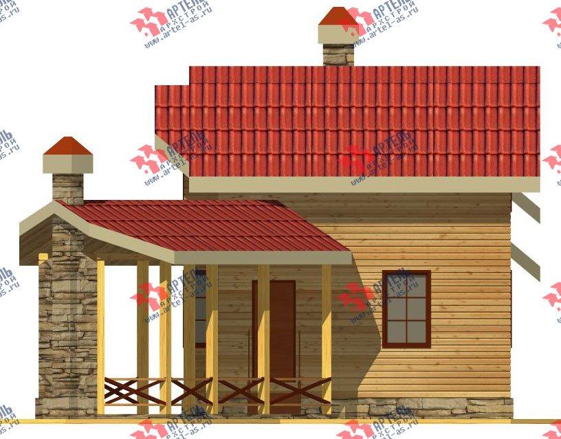 двухэтажный дом из профилированного бруса площадью от 100 до 150 кв. м. с  мансардой, террасой, эркером, проект Вариант 6.7 Б фотография 2475