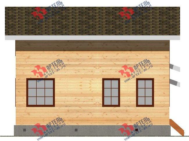 двухэтажный дом из бруса площадью от 150 до 200 кв. м. с  гаражом, мансардой, проект Вариант 8.6 Б фотография 2438