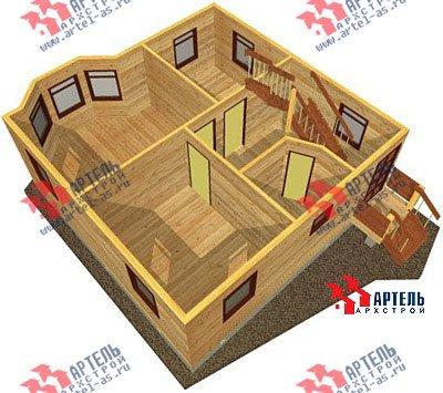 двухэтажный дом из профилированного бруса площадью от 100 до 150 кв. м. с  балконом, мансардой, эркером, проект Вариант 7.5 А фотография 791