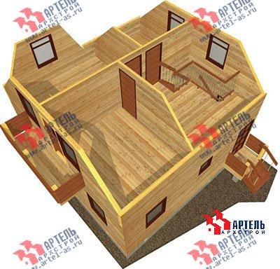 двухэтажный дом из профилированного бруса площадью от 100 до 150 кв. м. с  балконом, мансардой, эркером, проект Вариант 7.5 А фотография 792