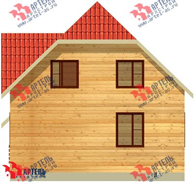 двухэтажный дом из бруса площадью от 100 до 150 кв. м. с  мансардой, проект Вариант 8 В фотография 971