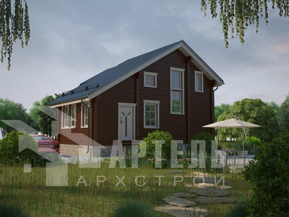 двухэтажный дом из профилированного бруса площадью до 100 кв. м. с  мансардой, проект Вариант 5.6 А фотография 4210
