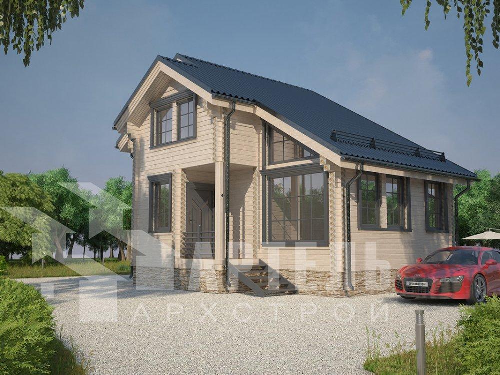 двухэтажный дом из профилированного бруса площадью до 100 кв. м. с  мансардой, проект Вариант 5.6 А фотография 4215