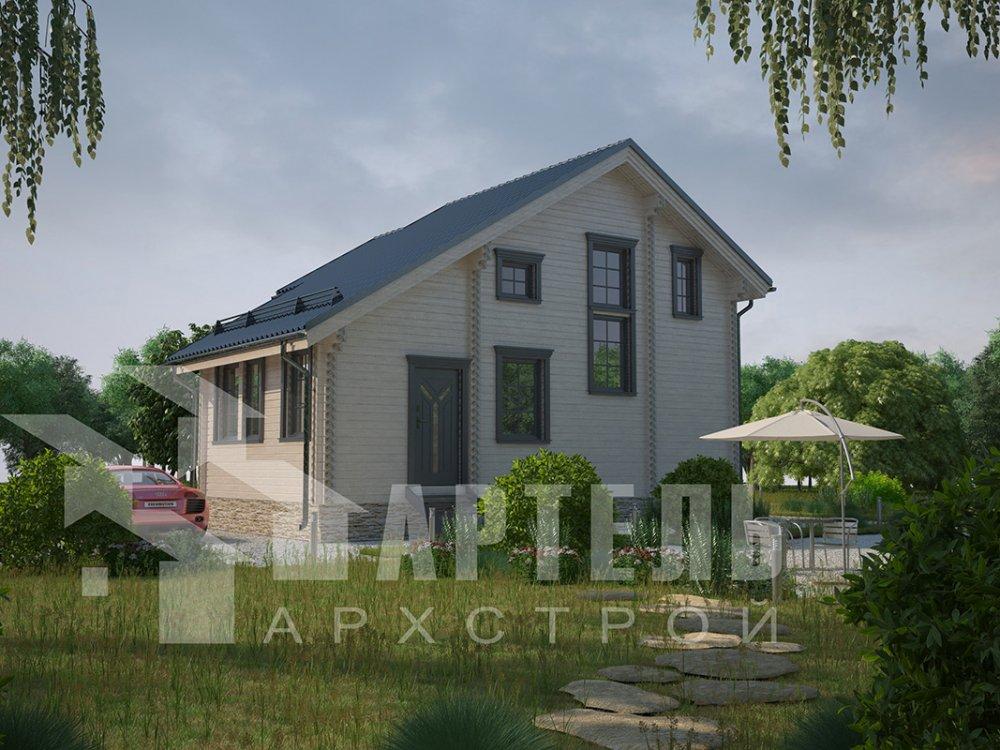 двухэтажный дом из профилированного бруса площадью до 100 кв. м. с  мансардой, проект Вариант 5.6 А фотография 4216