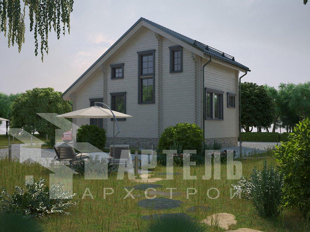 двухэтажный дом из профилированного бруса площадью до 100 кв. м. с  мансардой, проект Вариант 5.6 А фотография 4217