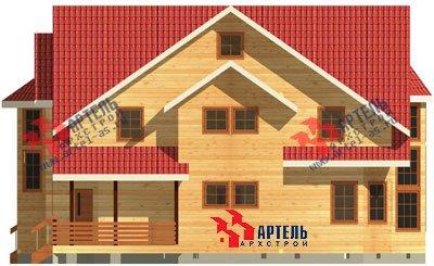 трёхэтажный дом из бруса площадью свыше 200 кв. м. с  мансардой, террасой, эркером, проект Вариант 15.6 А фотография 1506