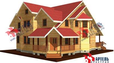 трёхэтажный дом из бруса площадью свыше 200 кв. м. с  мансардой, террасой, эркером, проект Вариант 15.6 А фотография 1507