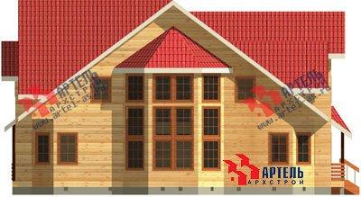 трёхэтажный дом из бруса площадью свыше 200 кв. м. с  мансардой, террасой, эркером, проект Вариант 15.6 А фотография 1508