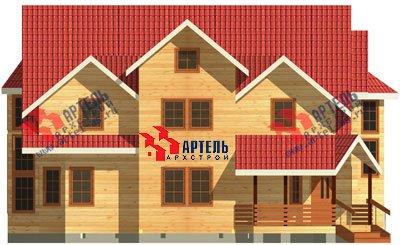 трёхэтажный дом из бруса площадью свыше 200 кв. м. с  мансардой, террасой, эркером, проект Вариант 15.6 А фотография 1509