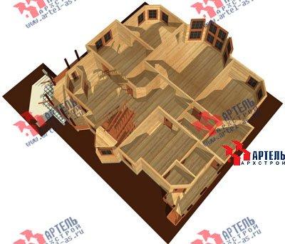 трёхэтажный дом из бруса площадью свыше 200 кв. м. с  мансардой, террасой, эркером, проект Вариант 15.6 А фотография 1510