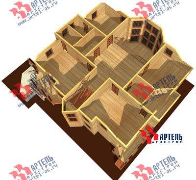 трёхэтажный дом из бруса площадью свыше 200 кв. м. с  мансардой, террасой, эркером, проект Вариант 15.6 А фотография 1511