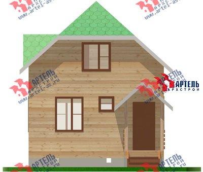 двухэтажный дом из профилированного бруса площадью до 100 кв. м. с  мансардой, проект Вариант 6 Г фотография 692