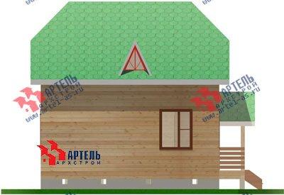 двухэтажный дом из профилированного бруса площадью до 100 кв. м. с  мансардой, проект Вариант 6 Г фотография 694
