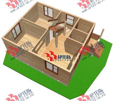 двухэтажный дом из профилированного бруса площадью до 100 кв. м. с  мансардой, проект Вариант 6 Г фотография 690