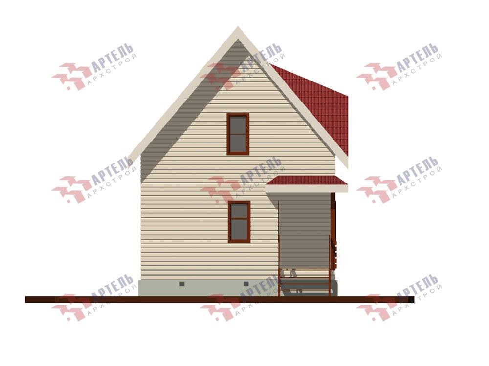 двухэтажный дом из профилированного бруса площадью до 100 кв. м. с  мансардой, проект Вариант 6 Д фотография 5786