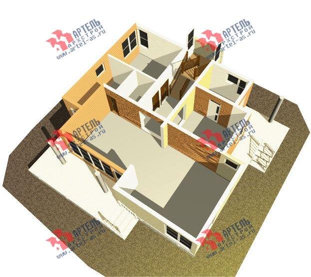 двухэтажный дом из профилированного бруса камерной сушки площадью свыше 200 кв. м. с  балконом, террасой, проект Вариант 3 фотография 2541