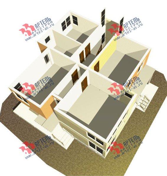 двухэтажный дом из профилированного бруса камерной сушки площадью свыше 200 кв. м. с  балконом, террасой, проект Вариант 3 фотография 2542