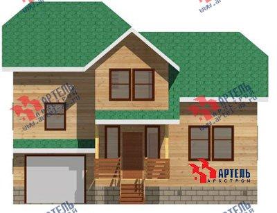 трёхэтажный дом из бруса площадью от 100 до 150 кв. м. с  гаражом, мансардой, проект Вариант 6 М фотография 891