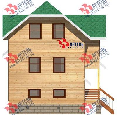 трёхэтажный дом из бруса площадью от 100 до 150 кв. м. с  гаражом, мансардой, проект Вариант 6 М фотография 892