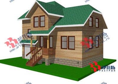 трёхэтажный дом из бруса площадью от 100 до 150 кв. м. с  гаражом, мансардой, проект Вариант 6 М фотография 890