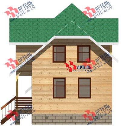 трёхэтажный дом из бруса площадью от 100 до 150 кв. м. с  гаражом, мансардой, проект Вариант 6 М фотография 893