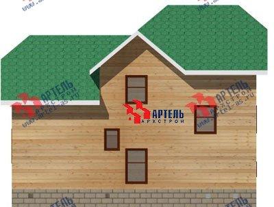 трёхэтажный дом из бруса площадью от 100 до 150 кв. м. с  гаражом, мансардой, проект Вариант 6 М фотография 894