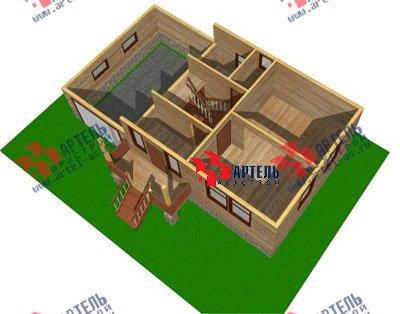 трёхэтажный дом из бруса площадью от 100 до 150 кв. м. с  гаражом, мансардой, проект Вариант 6 М фотография 895