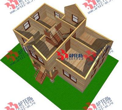 трёхэтажный дом из бруса площадью от 100 до 150 кв. м. с  гаражом, мансардой, проект Вариант 6 М фотография 896