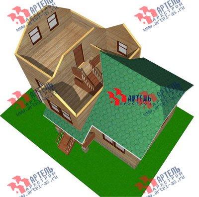 трёхэтажный дом из бруса площадью от 100 до 150 кв. м. с  гаражом, мансардой, проект Вариант 6 М фотография 897