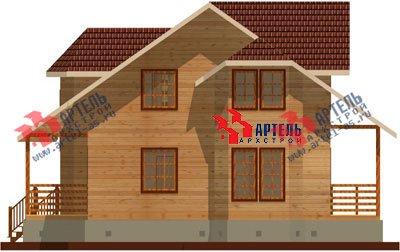 двухэтажный дом из бруса площадью от 150 до 200 кв. м. с  мансардой, эркером, проект Вариант 8.8 А фотография 1168