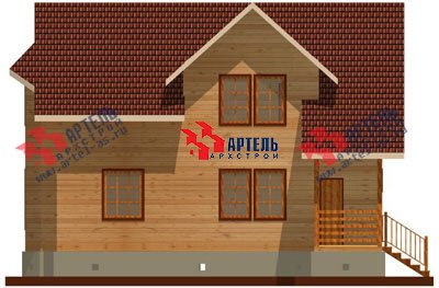 двухэтажный дом из бруса площадью от 150 до 200 кв. м. с  мансардой, эркером, проект Вариант 8.8 А фотография 1169