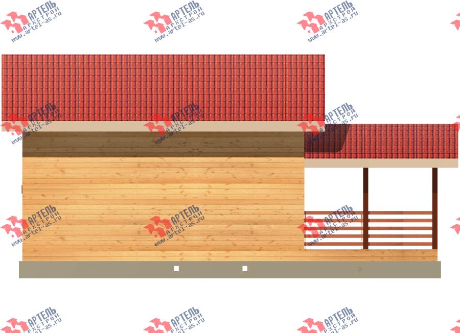 двухэтажный дом из профилированного бруса площадью до 100 кв. м., проект Вариант 7 фотография 3352