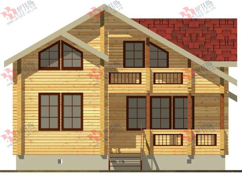 двухэтажный дом из профилированного бруса площадью от 100 до 150 кв. м. с  балконом, проект Вариант 9.5 К фотография 71