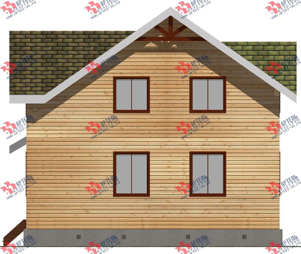 двухэтажный дом из бруса площадью от 100 до 150 кв. м. с  мансардой, проект Вариант 9 Ж-1 фотография 2568