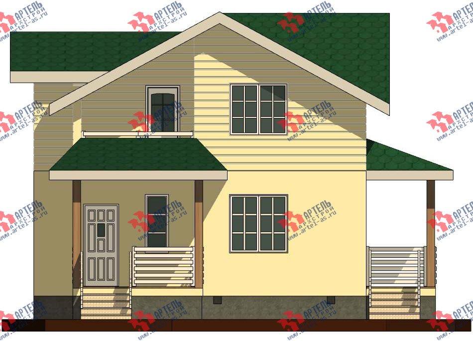 двухэтажный дом из профилированного бруса камерной сушки площадью от 100 до 150 кв. м. с  мансардой, проект Вариант 6 фотография 2792