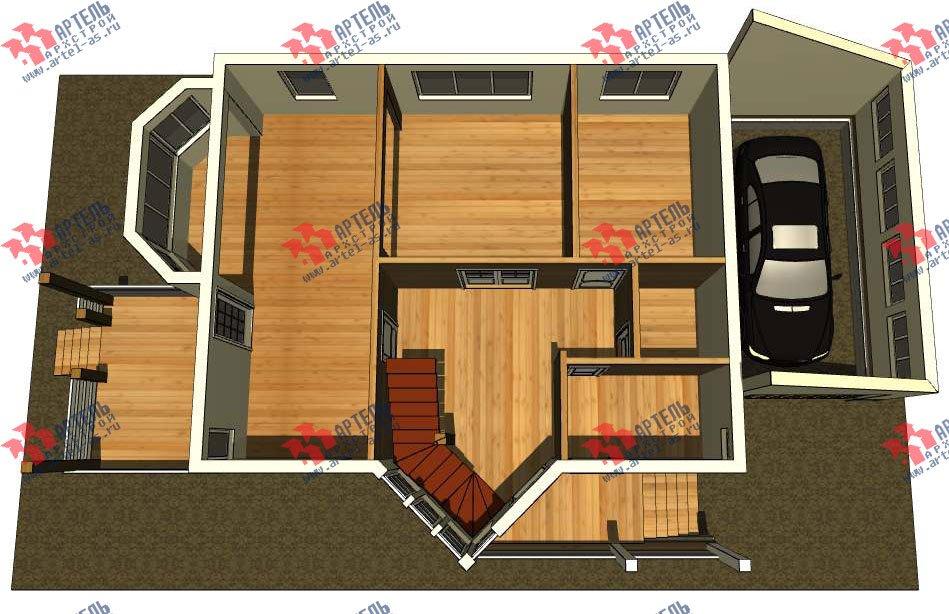двухэтажный дом из бруса площадью от 150 до 200 кв. м. с  мансардой, террасой, эркером, проект Вариант 10 фотография 3003