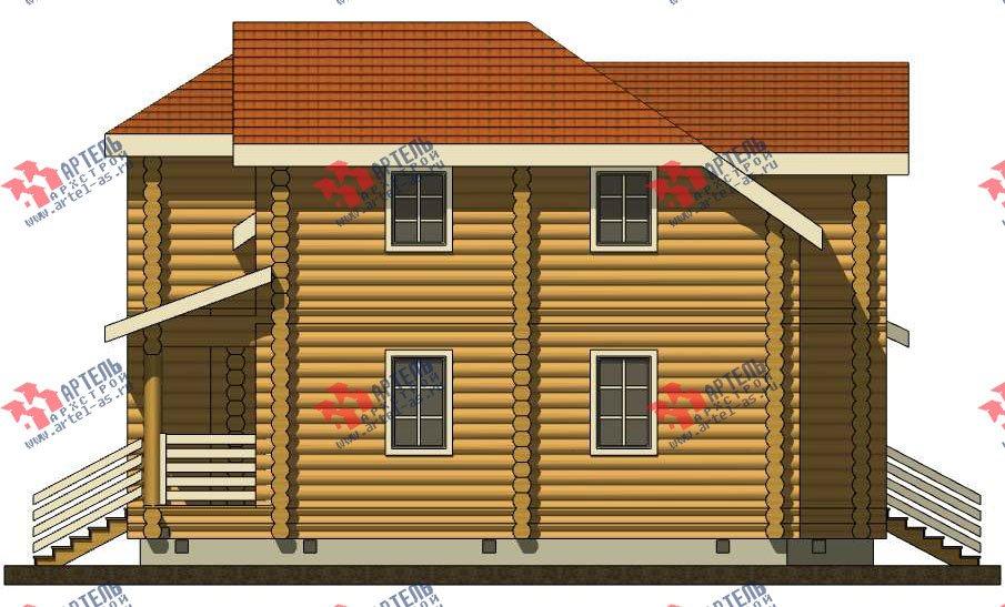 двухэтажный дом из оцилиндрованного бревна площадью от 150 до 200 кв. м. с  мансардой, проект Вариант 7 фотография 3107