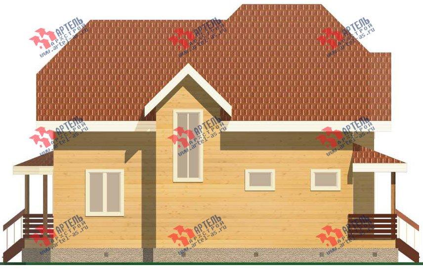 двухэтажный дом из бруса площадью от 150 до 200 кв. м. с  эркером, проект Вариант 11.2 В фотография 3159
