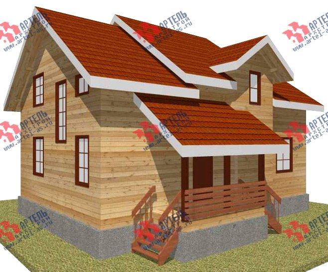 двухэтажный дом из бруса площадью от 150 до 200 кв. м. с  мансардой, проект Вариант 11 Л-2 фотография 3166