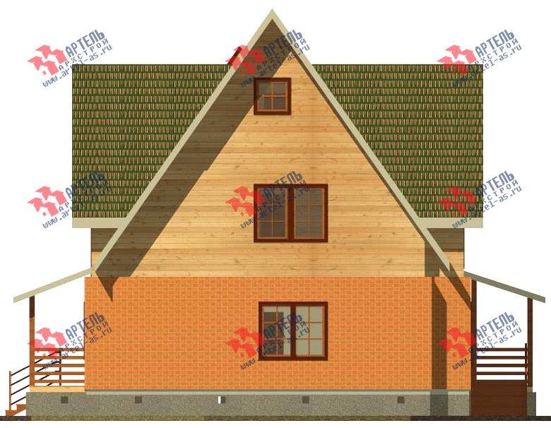 двухэтажный дом из камня площадью свыше 200 кв. м. с  террасой, проект Вариант 29 фотография 3180