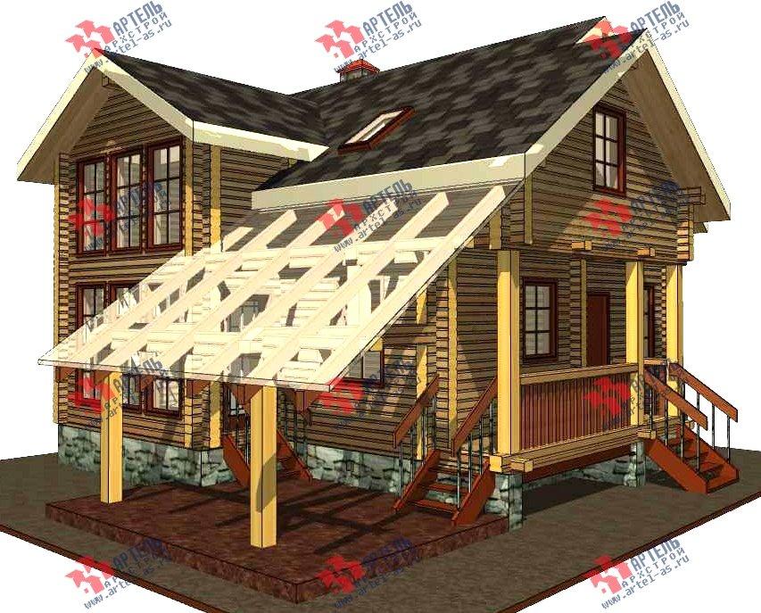 двухэтажный проект площадью от 100 до 150 кв. м. с  мансардой, террасой, проект Вариант 8.7 А фотография 3276