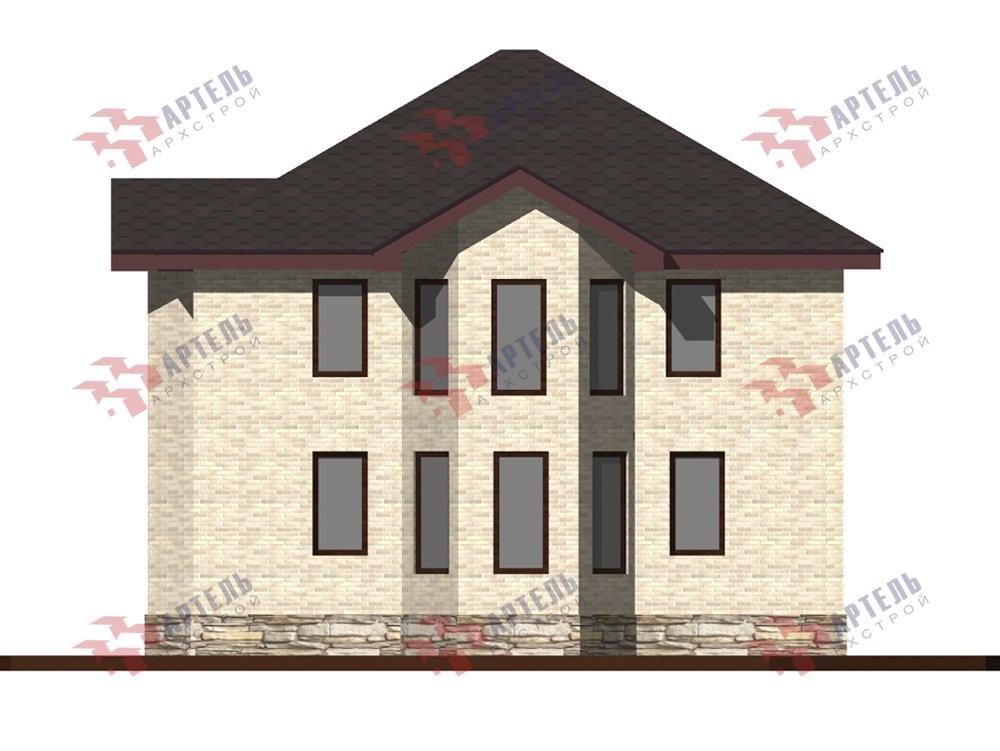 двухэтажный дом из камня площадью от 150 до 200 кв. м. с  террасой, эркером, проект Вариант 10,6К Каменный фотография 6245