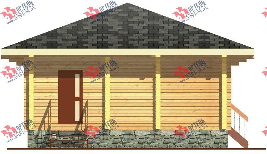 одноэтажный дом из бруса площадью до 100 кв. м. с  террасой, проект Вариант 7.8 А-1 фотография 3313