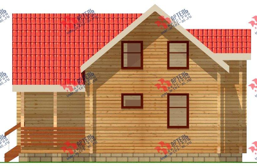 двухэтажный дом из профилированного бруса площадью от 100 до 150 кв. м. с  мансардой, эркером, проект Вариант 9 А фотография 234