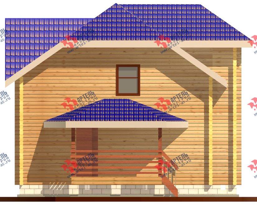 двухэтажный дом из профилированного бруса площадью от 100 до 150 кв. м. с  мансардой, эркером, проект Вариант 8 Т фотография 245