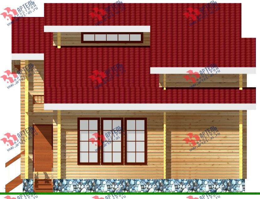 двухэтажный дом из профилированного бруса площадью от 100 до 150 кв. м. с  балконом, мансардой, проект Вариант 9.3 К фотография 256