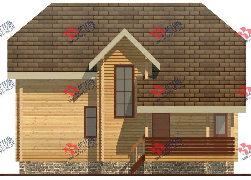 двухэтажный дом из профилированного бруса площадью от 100 до 150 кв. м. с  верандой, мансардой, эркером, проект Вариант 8.2 К фотография 354