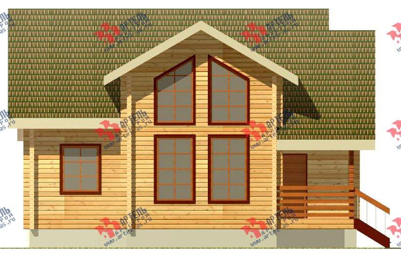 двухэтажный дом из профилированного бруса площадью от 150 до 200 кв. м., проект Вариант 9 О фотография 365
