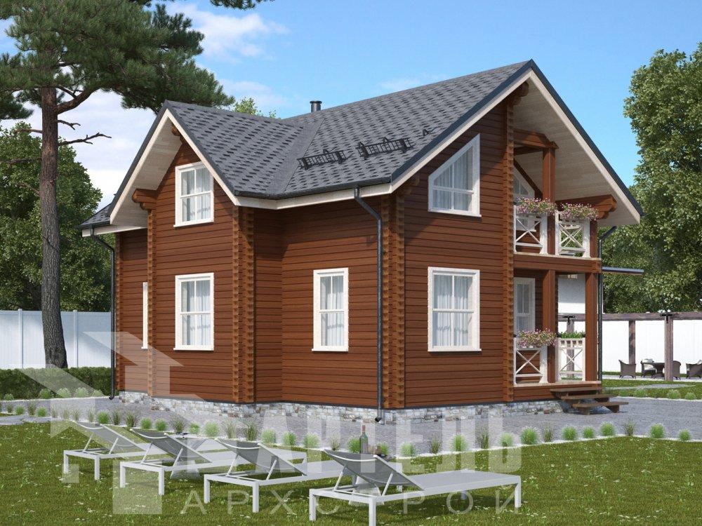 двухэтажный дом омбинированные дома площадью от 100 до 150 кв. м., проект Вариант 9,9К Камень и Комбинированный фотография 6511